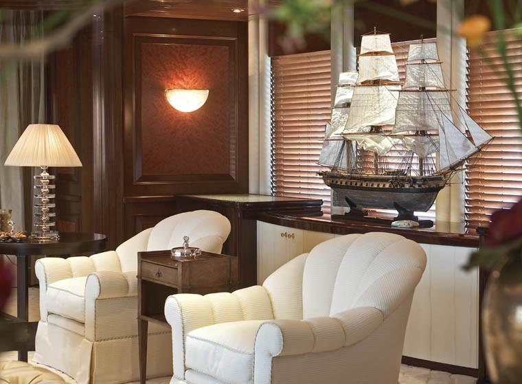 Sitting: Yacht BLUE MOON's Premier Saloon Photograph