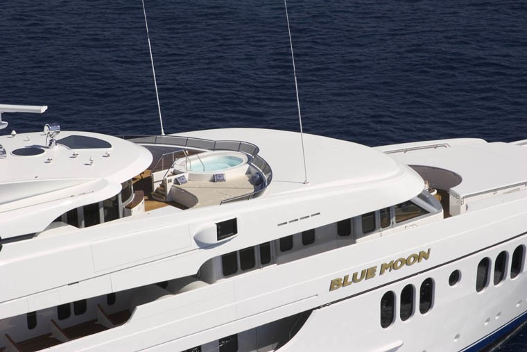 Detail From Above Aspect On Yacht BLUE MOON