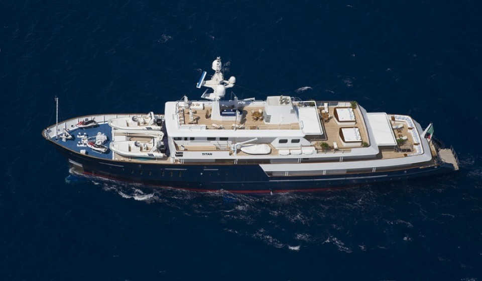 From Above: Yacht TITAN's Cruising Pictured