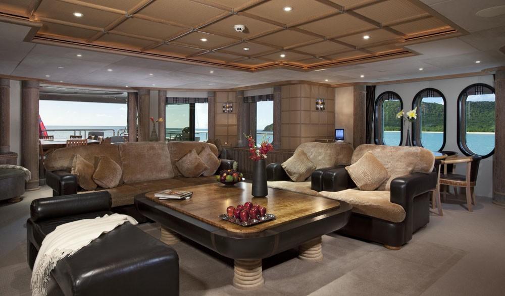 Top Deck Living Area Aboard Yacht CALYPSO