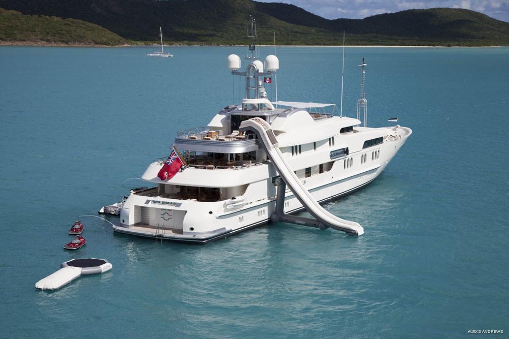 Water Slide Aboard Yacht CALYPSO
