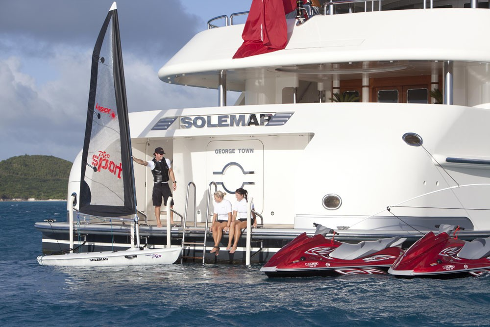 Swimming With Water Sports Zone On Board Yacht CALYPSO
