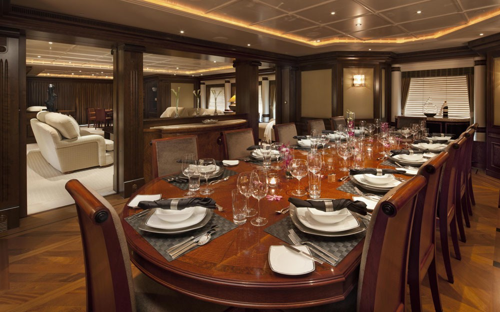 Eating/dining Area: Yacht CALYPSO's Premier Deck Photograph