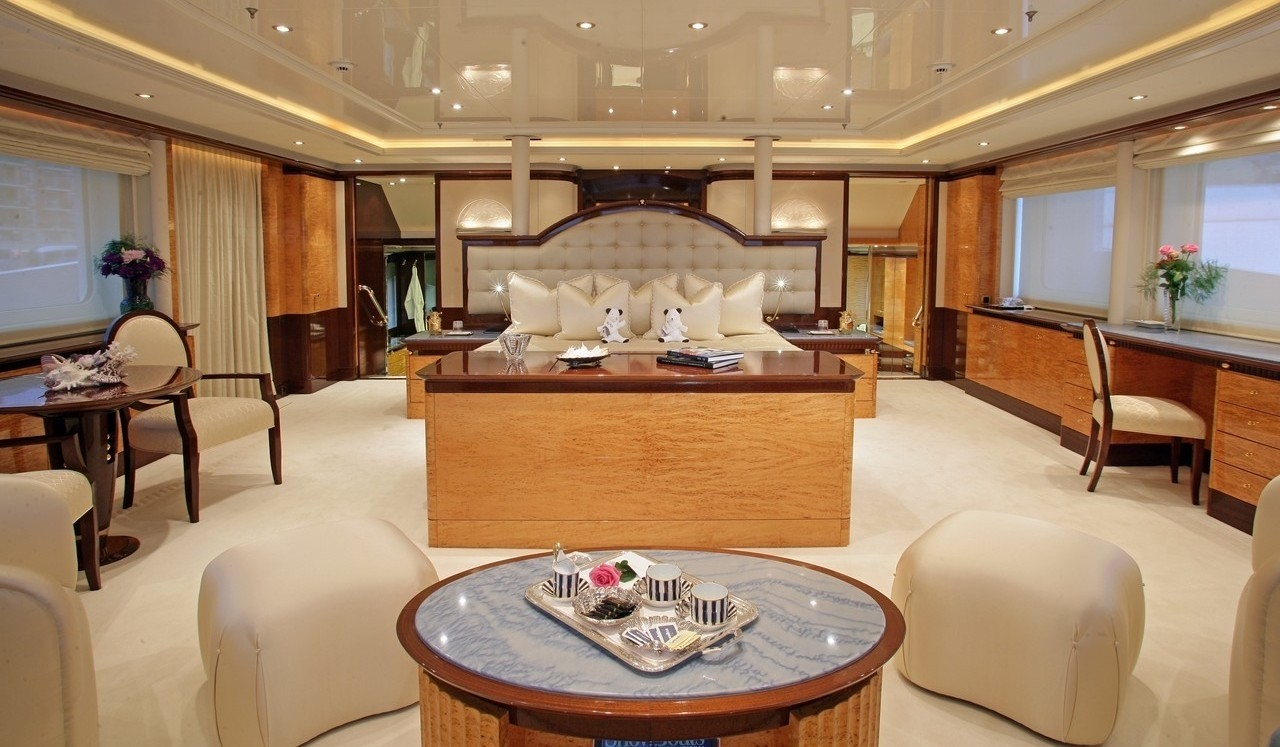 Aft Aspect: Yacht LUCKY LADY's Main Master Cabin Image