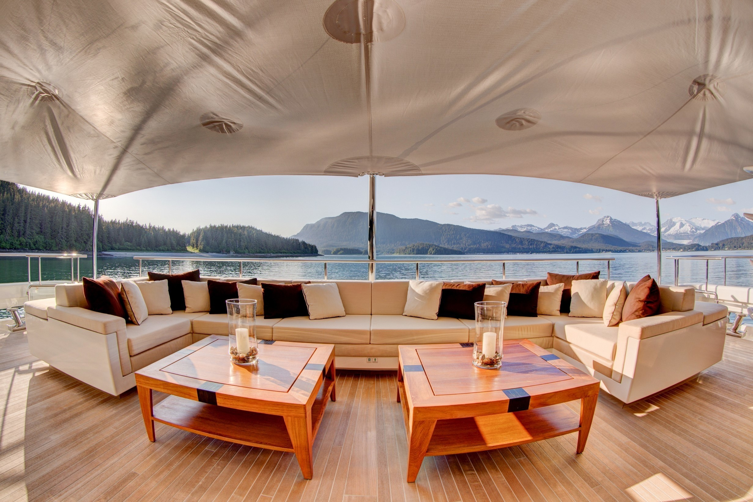 aft deck relaxation area