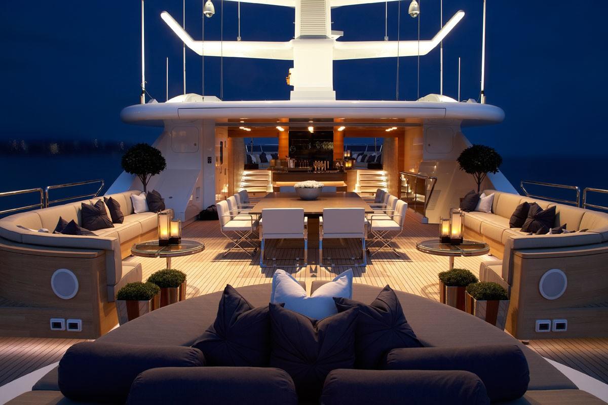 sun deck by night