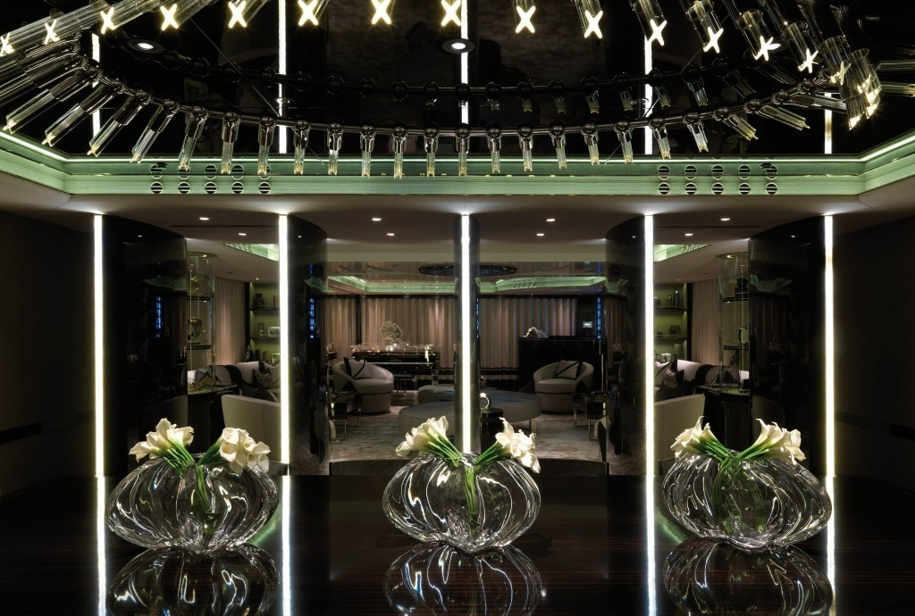 Interior detail of the 62m superyacht