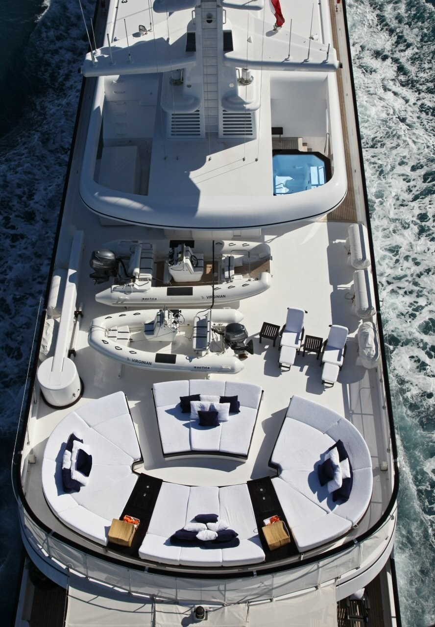 aerial view of the sun deck