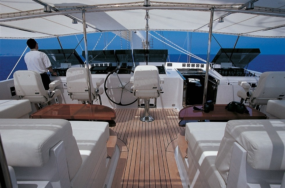 Fly-deck Aboard Yacht SPIRIT OF THE C'S