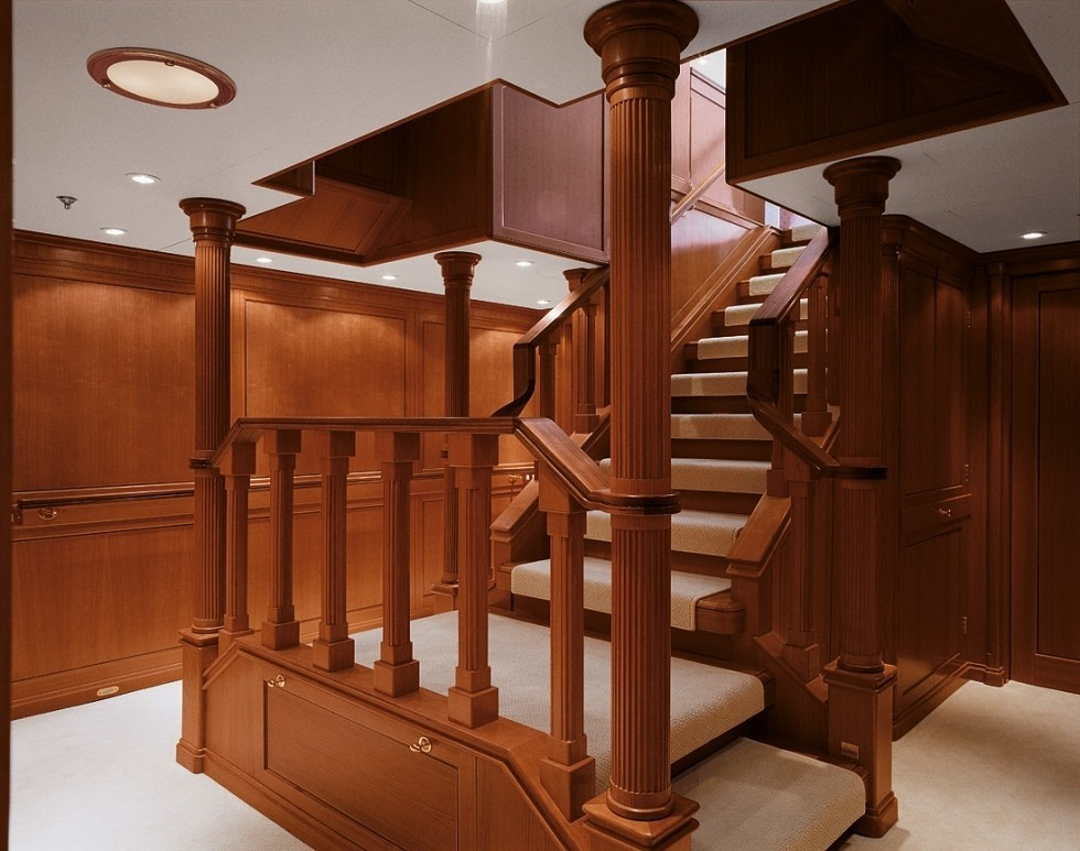 Stairway Aboard Yacht SPIRIT OF THE C'S