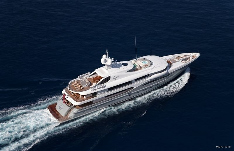 From Above: Yacht INFINITE SHADES's Cruising Pictured