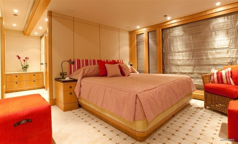 Pink: Yacht INFINITE SHADES's Guest's Cabin Pictured