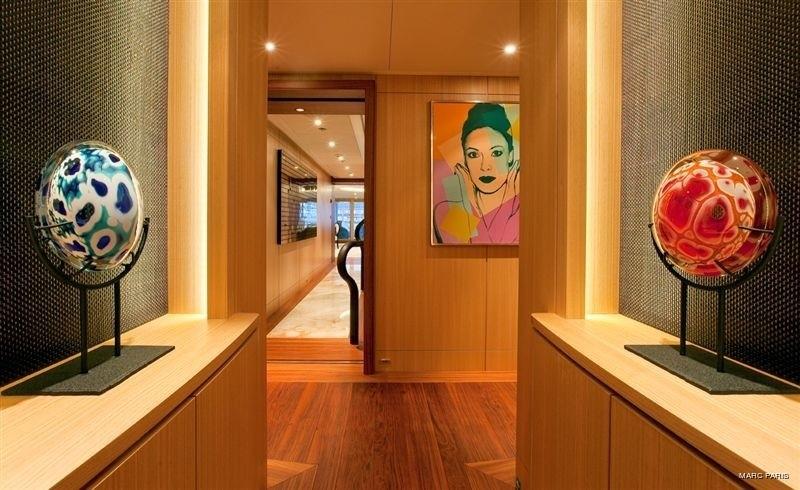 Top Lobby Aboard Yacht INFINITE SHADES