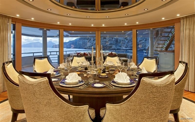 Furniture Setting Aboard Yacht INFINITE SHADES