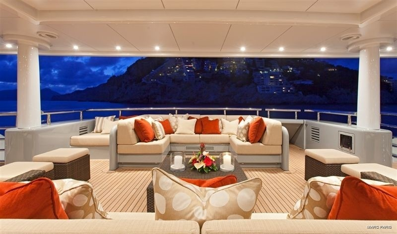 Premier Aft Deck On Yacht INFINITE SHADES