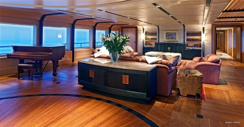 Premier Saloon Taken From Aft On Yacht INFINITE SHADES