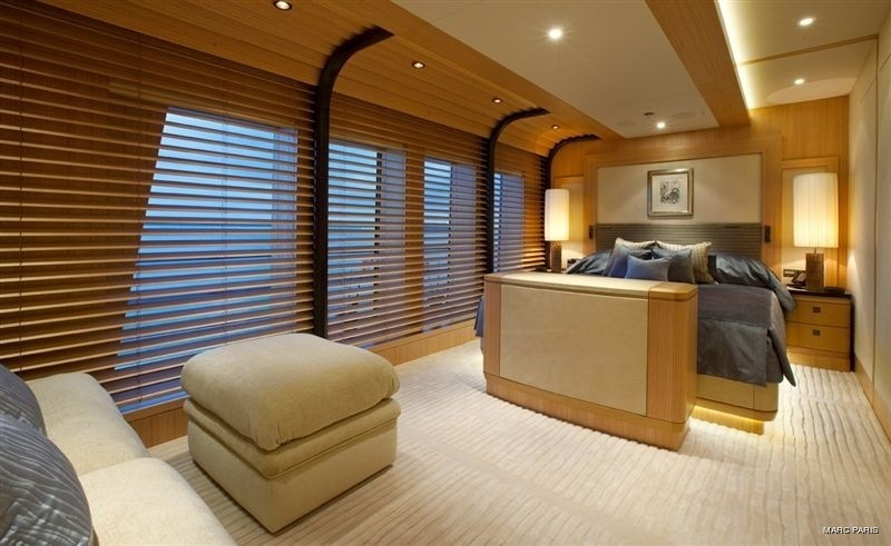 Top Deck: Yacht INFINITE SHADES's First VIP Stateroom Photograph