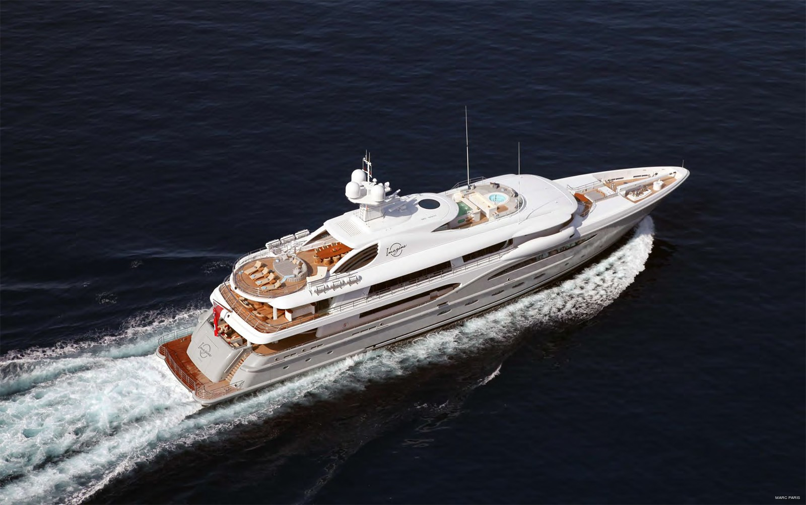 From Above: Yacht INFINITE SHADES's Cruising Image