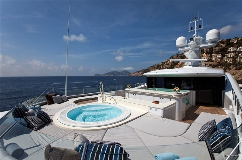 Fore Sun Deck On Yacht INFINITE SHADES