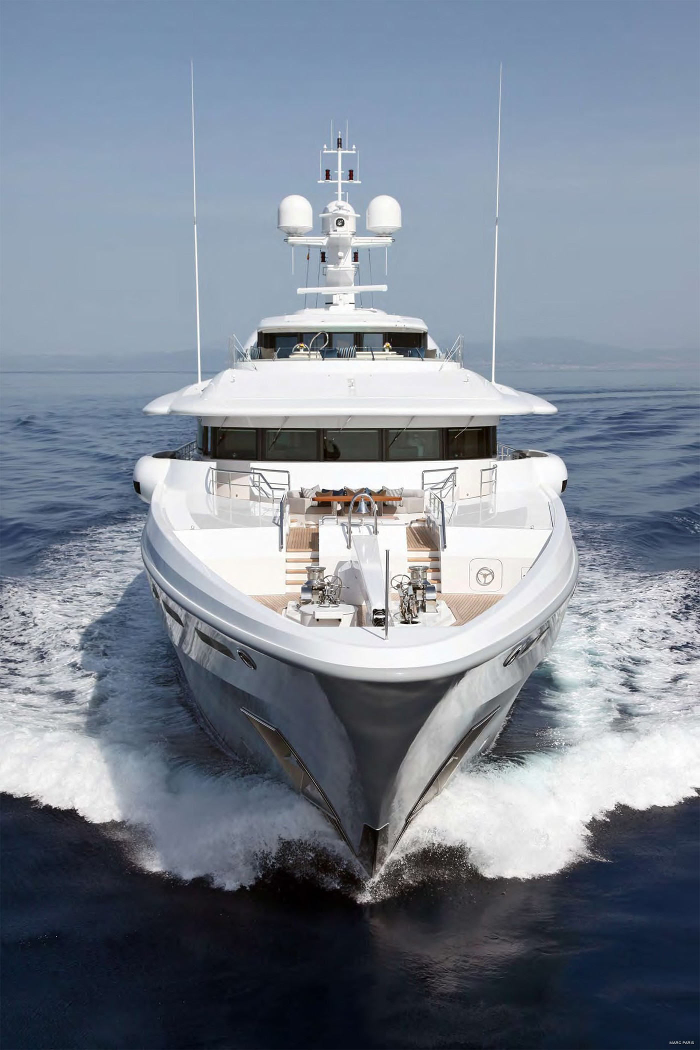 Forward Aspect Detail: Yacht INFINITE SHADES's Cruising Pictured