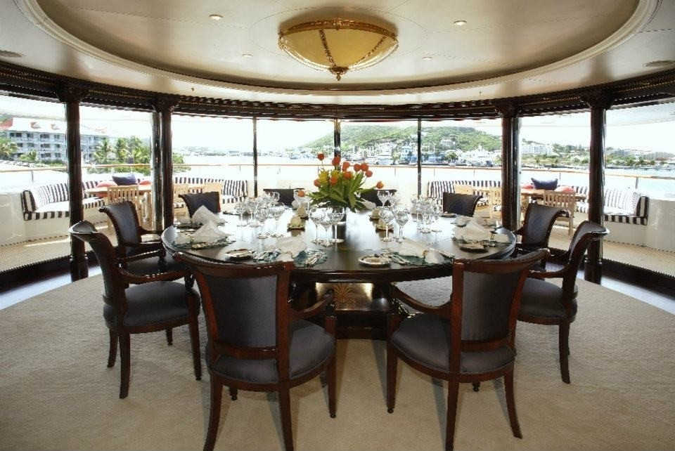 Formal Eating/dining On Board Yacht FREEDOM