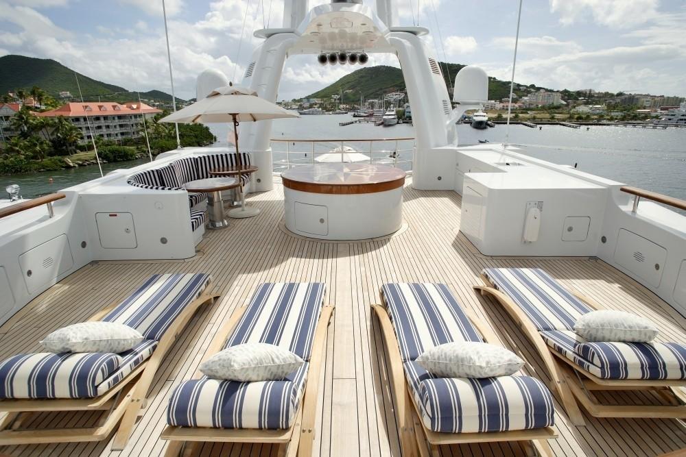 Top Sun Deck On Yacht FREEDOM