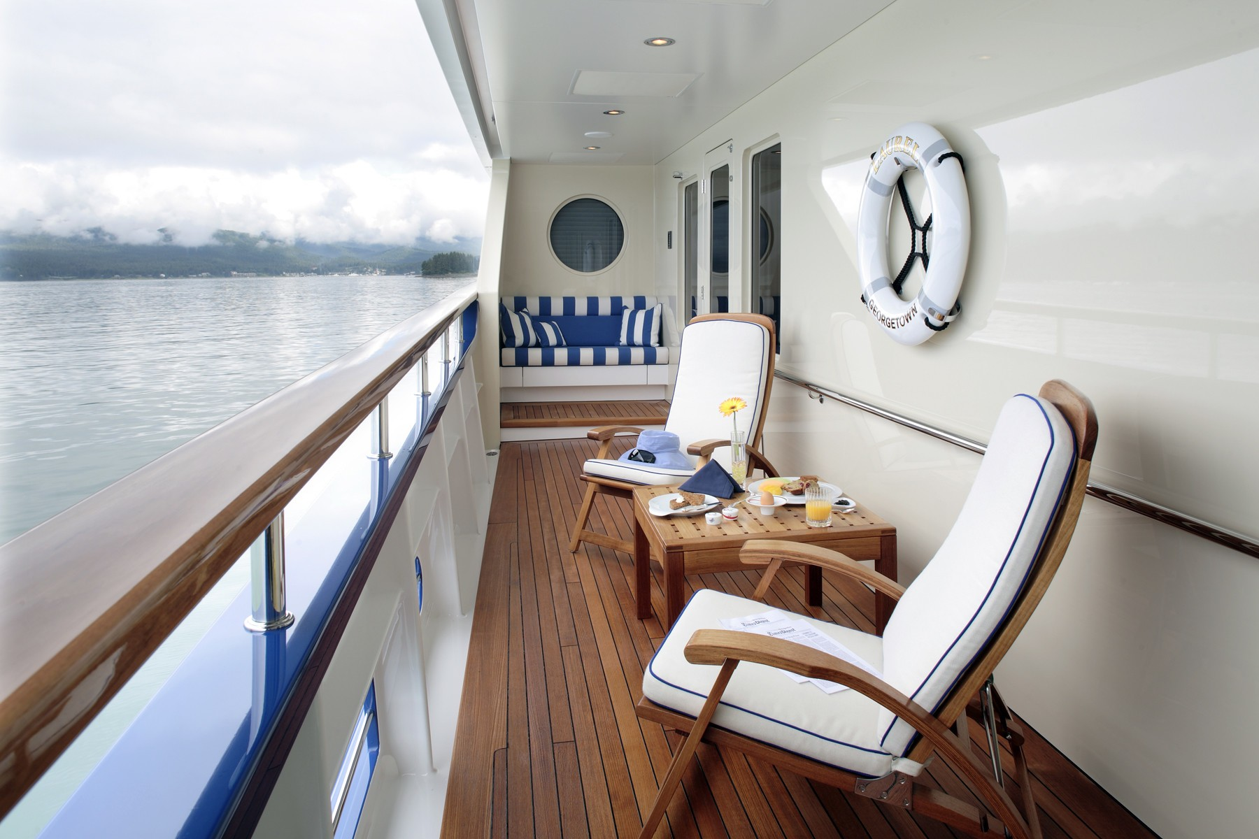starboard side deck seating area