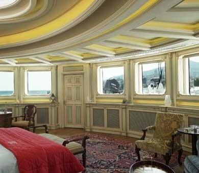 Window View: Yacht SAMAR's Main Master Cabin Pictured