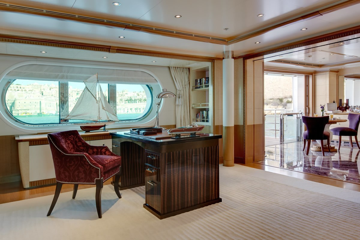 Main Master Office On Yacht PEGASUS VIII