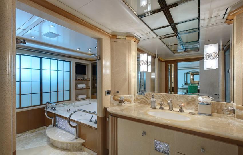 Main Master Bath On Board Yacht PEGASUS VIII