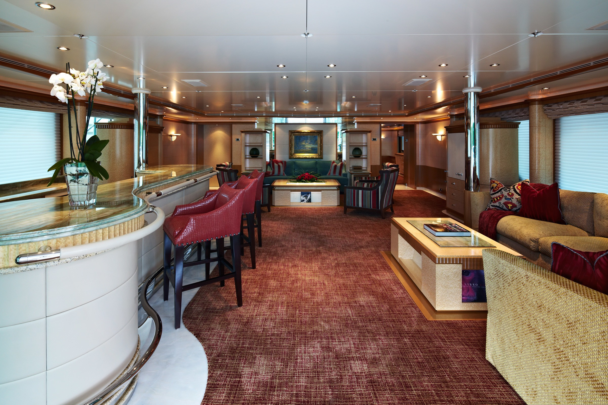 Top Saloon On Board Yacht PEGASUS VIII