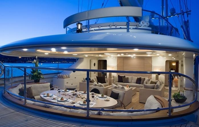 External Eating/dining With Sitting Zone On Board Yacht MALTESE FALCON