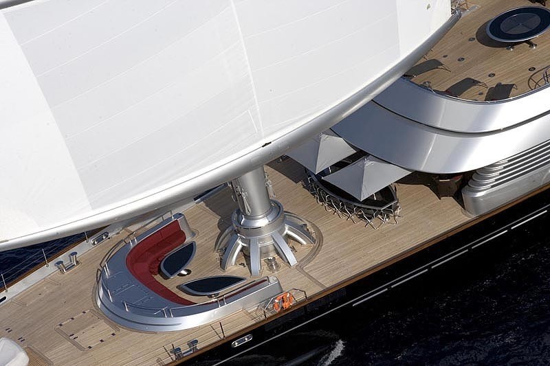 External Eating/dining: Yacht MALTESE FALCON's Cruising Image