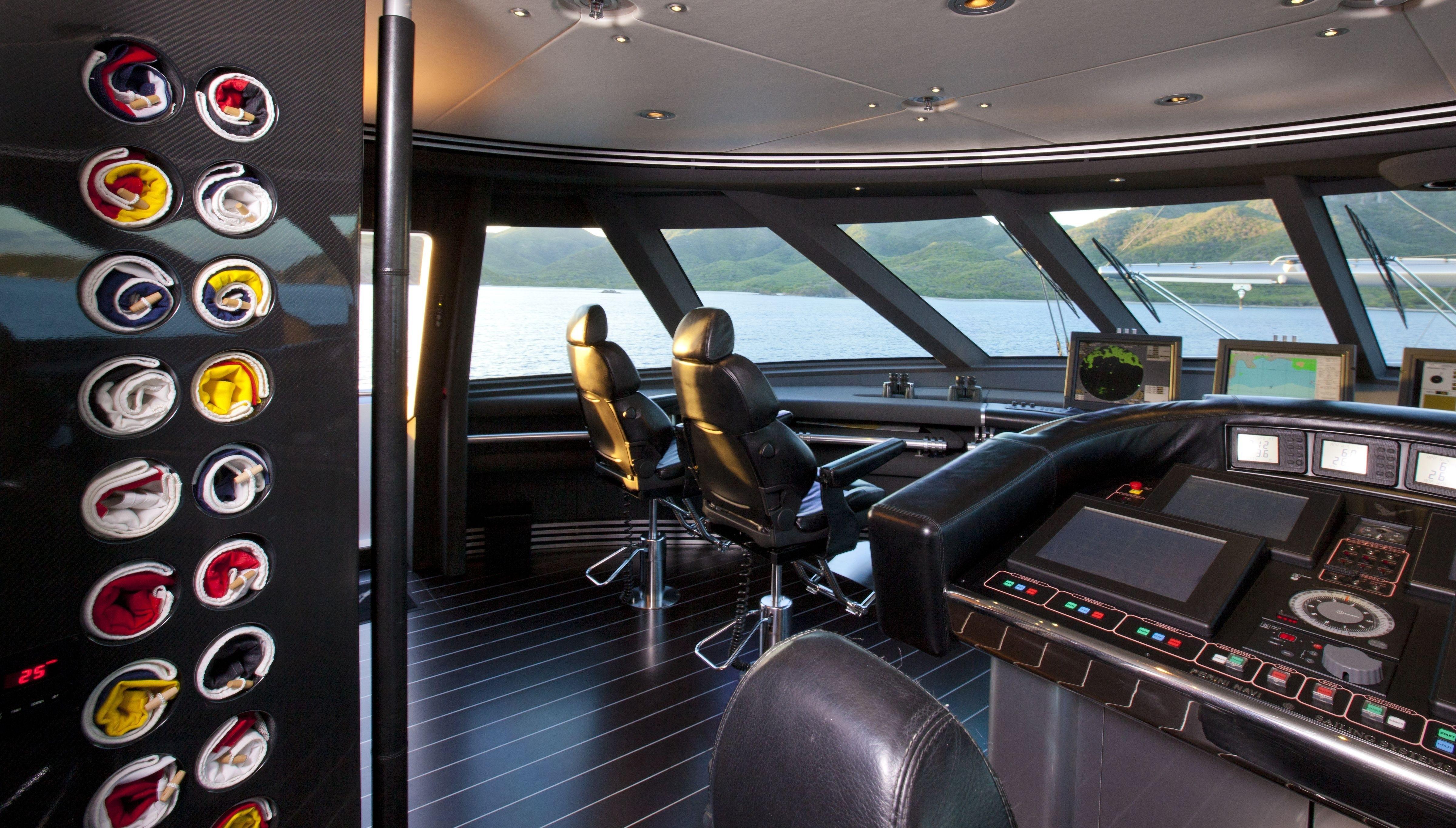 Bridgedeck Instrumentation On Yacht MALTESE FALCON