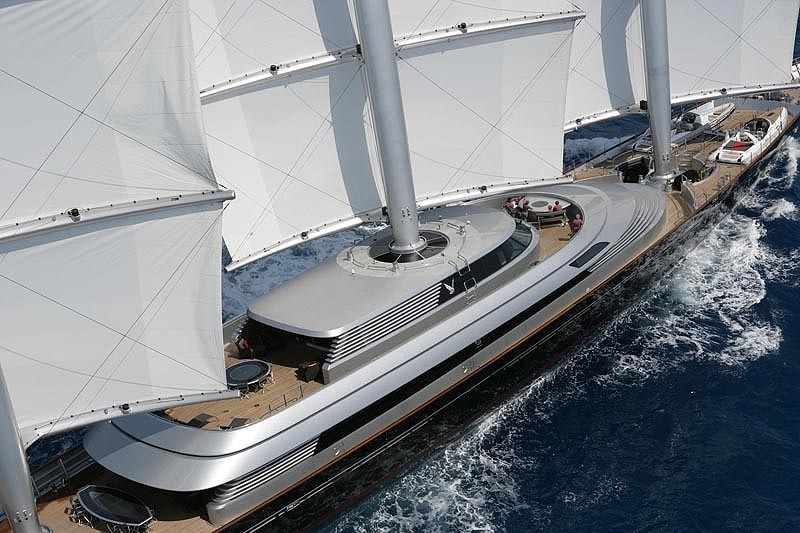 Detail: Yacht MALTESE FALCON's Cruising Pictured