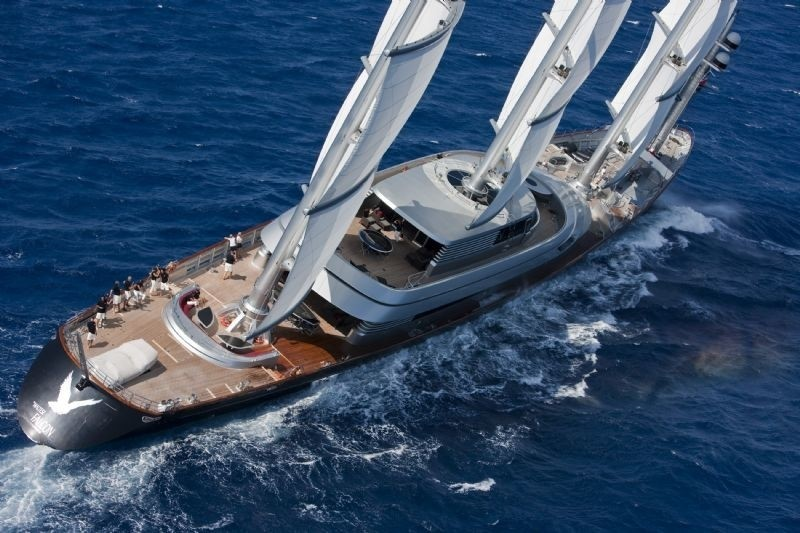 From Above Aspect: Yacht MALTESE FALCON's Cruising Image