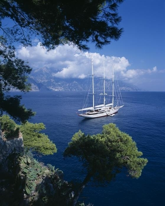90m Sailing Mega Yacht in the Mediterranean