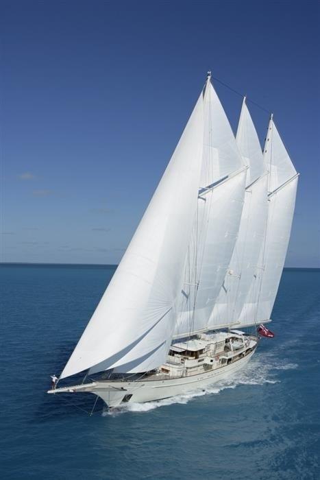 sailing forward view