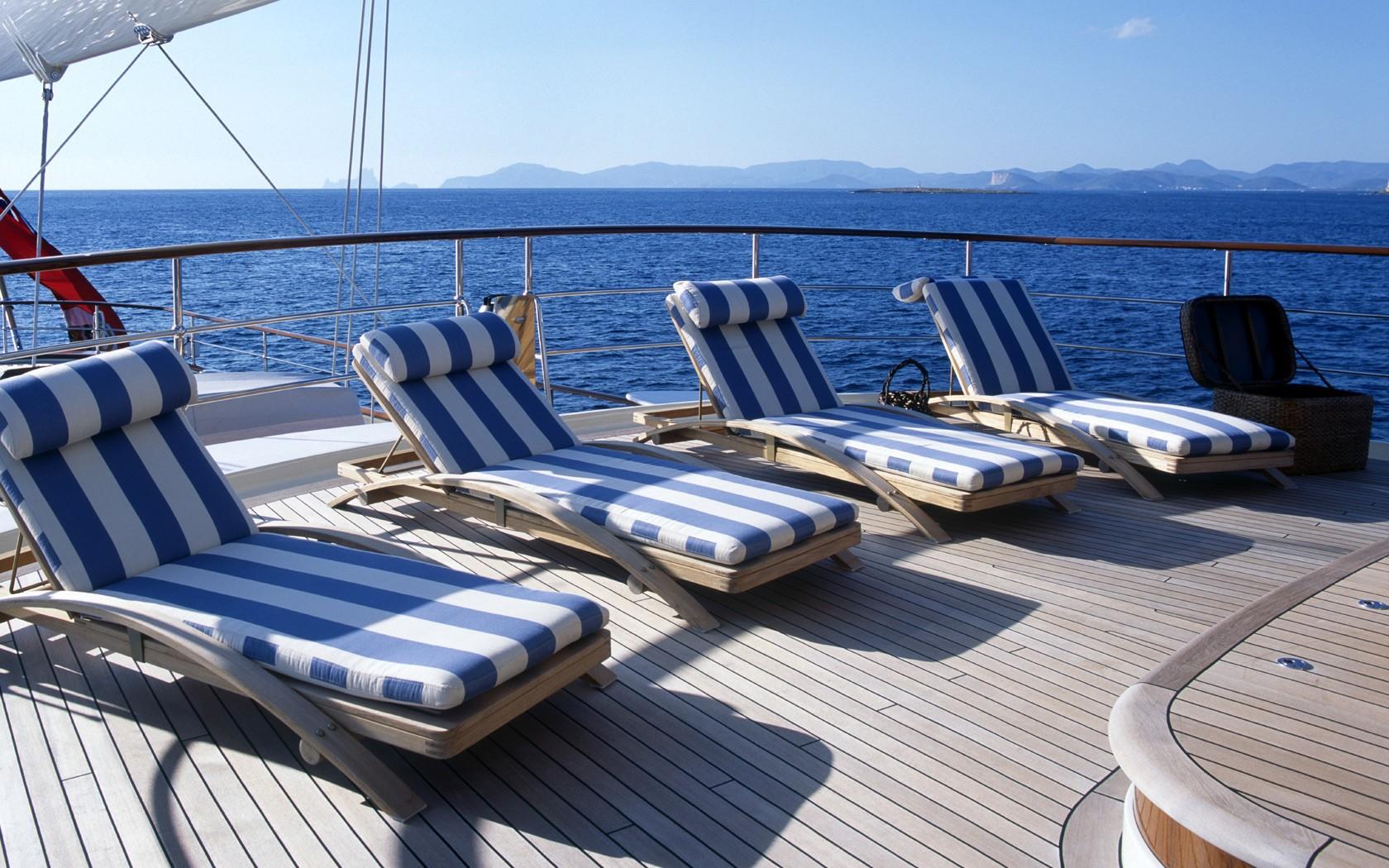 sun deck sunbathing area
