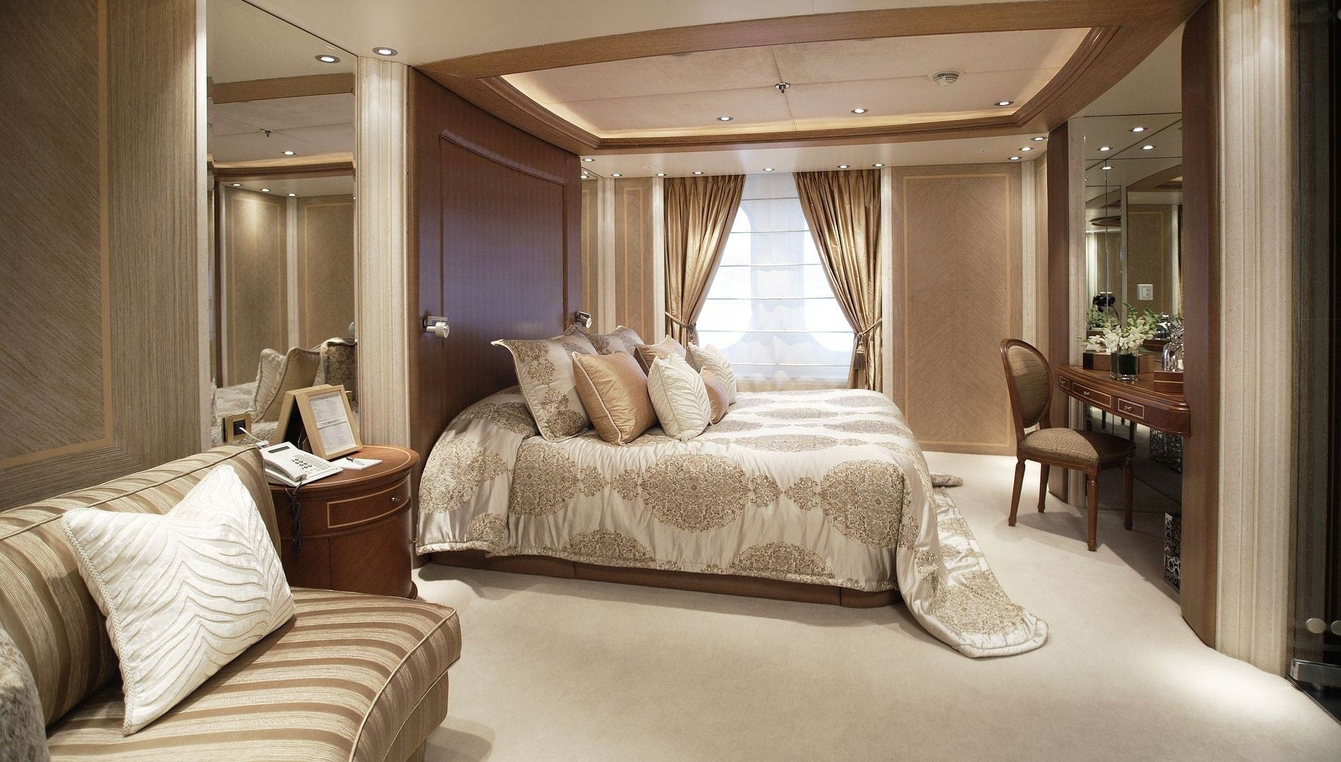 Double Sized Stateroom: Yacht MOONLIGHT II's Mykonos Pictured