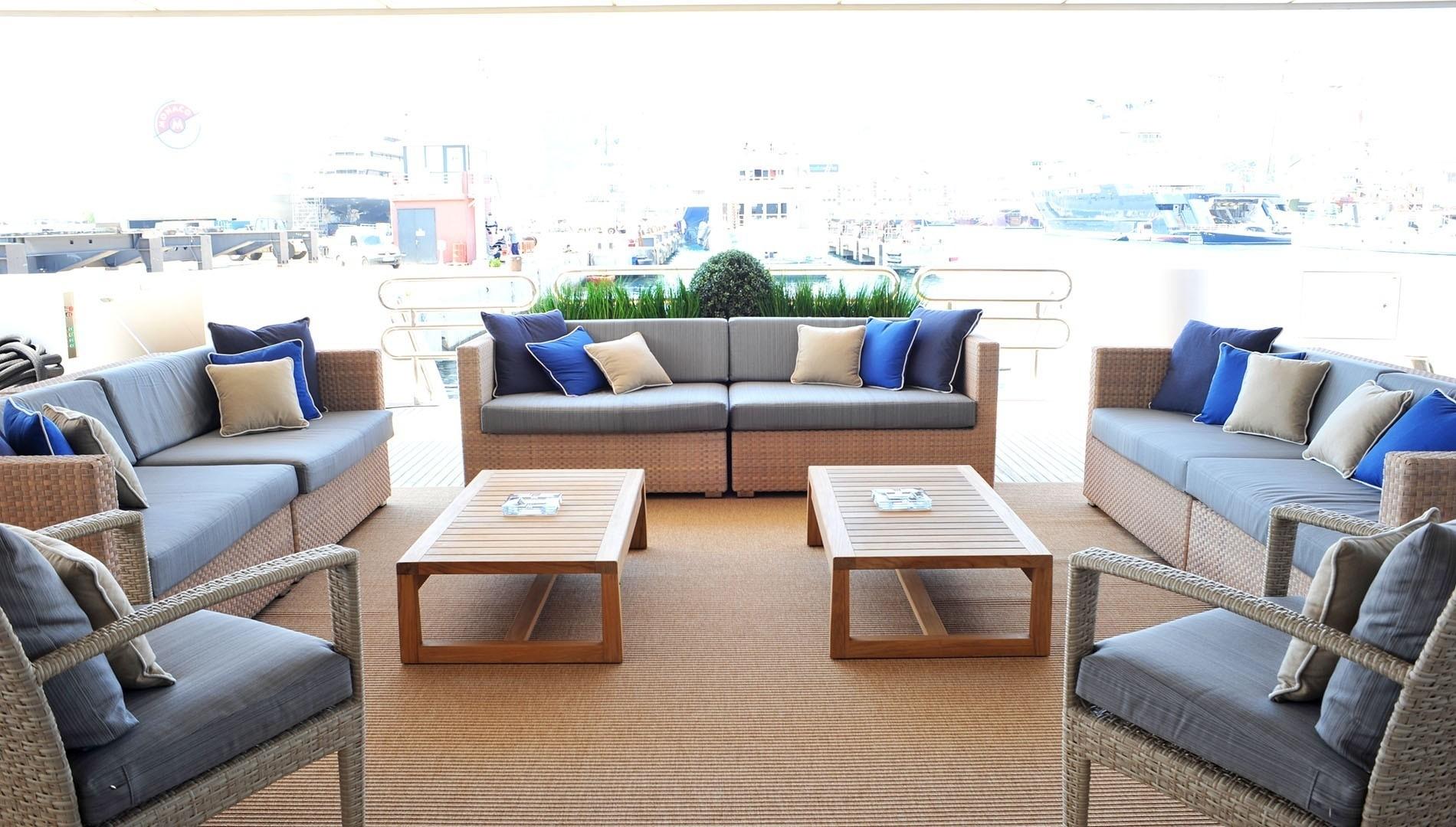 exterior aft deck seating