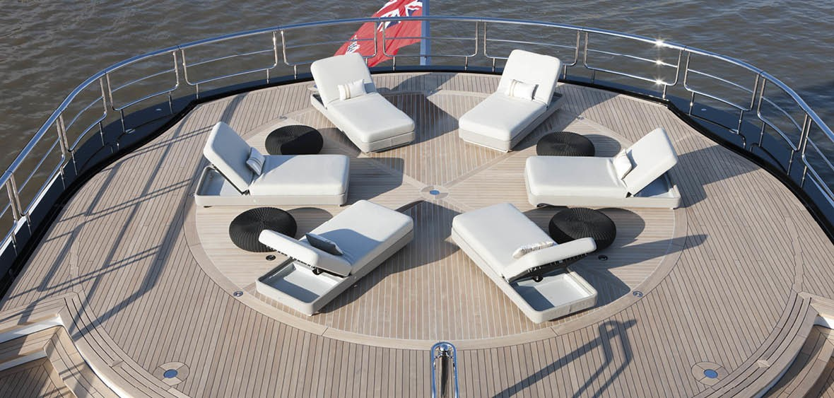 Helicopter Pad Including Sun Beds