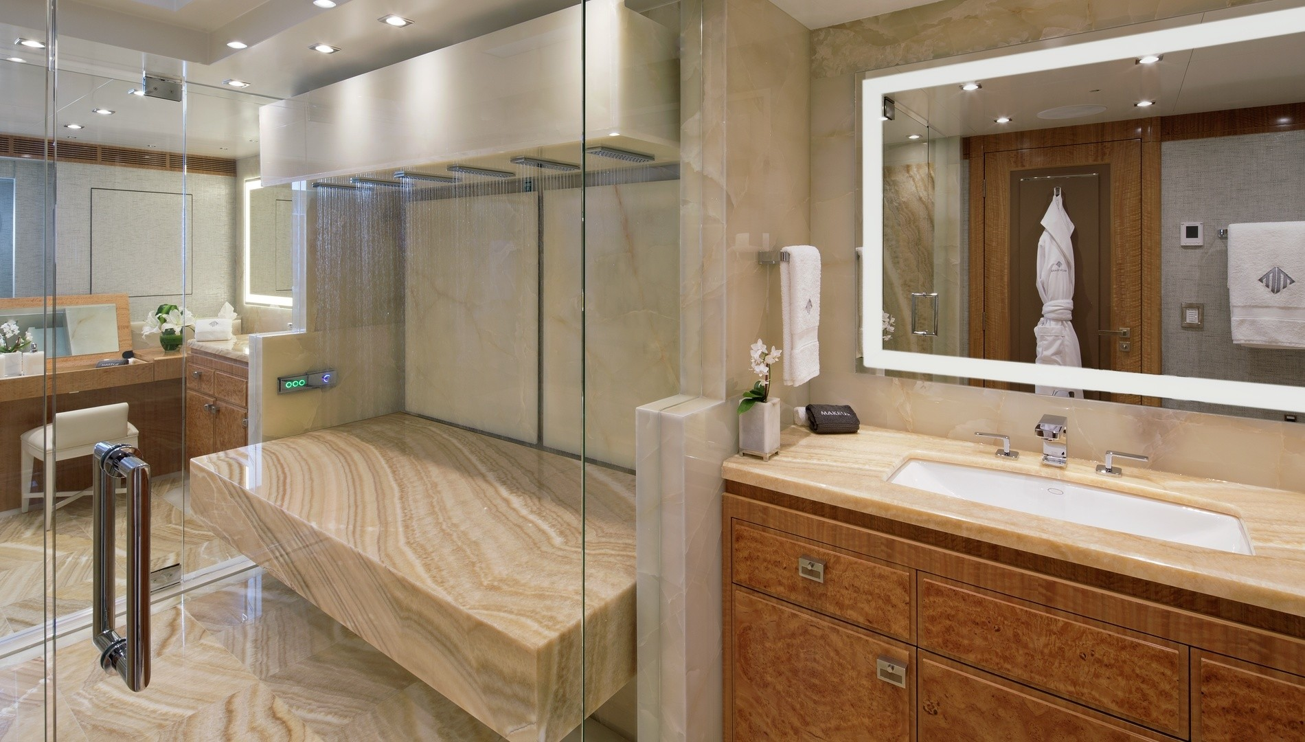 Vichy Shower In The Master Bathroom
