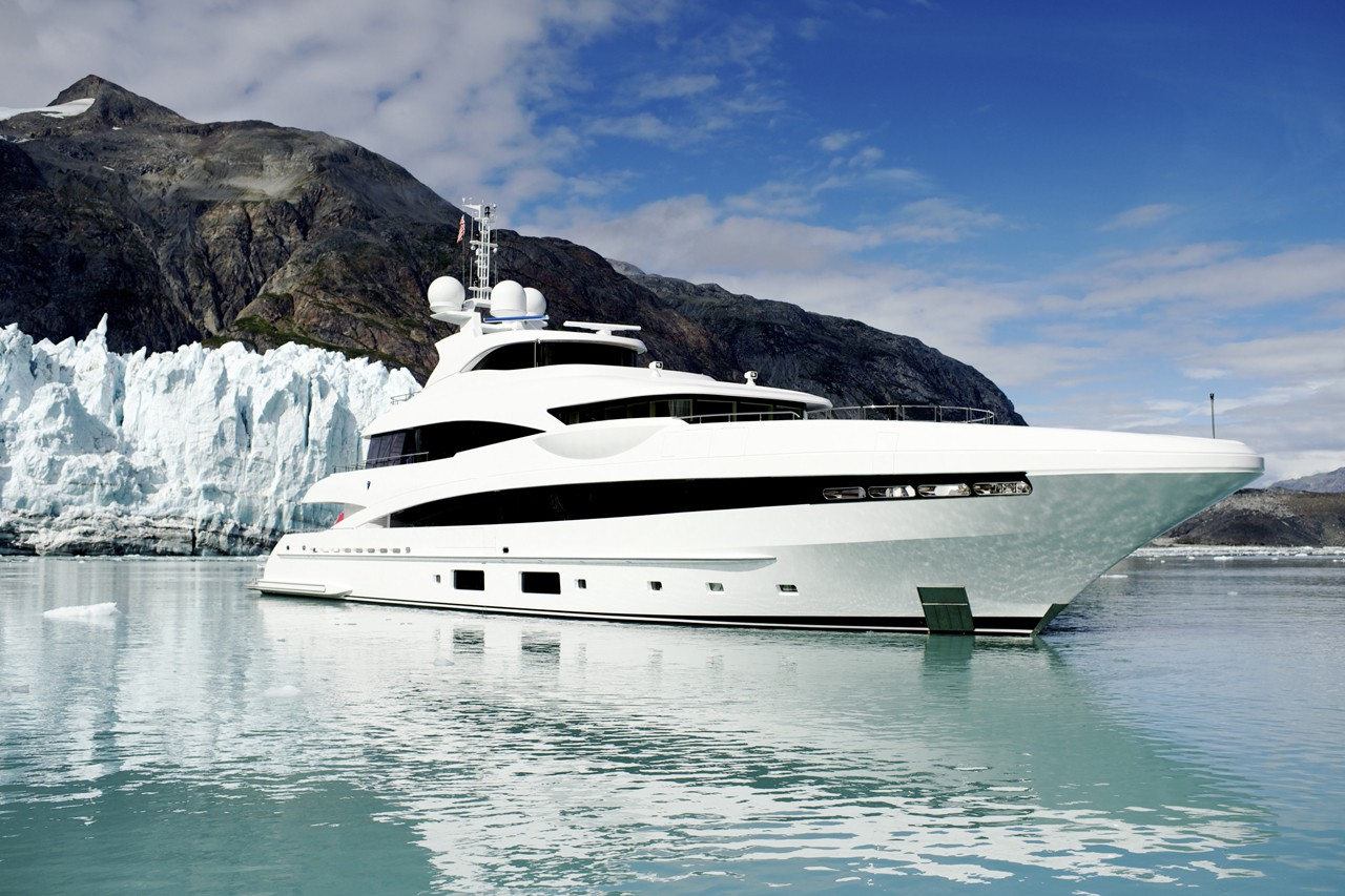 Profile Of The Superyacht In Alaska