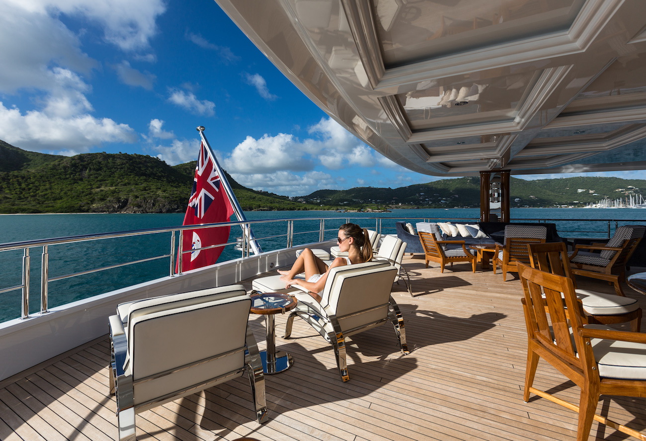 Relaxing On The Aft Deck