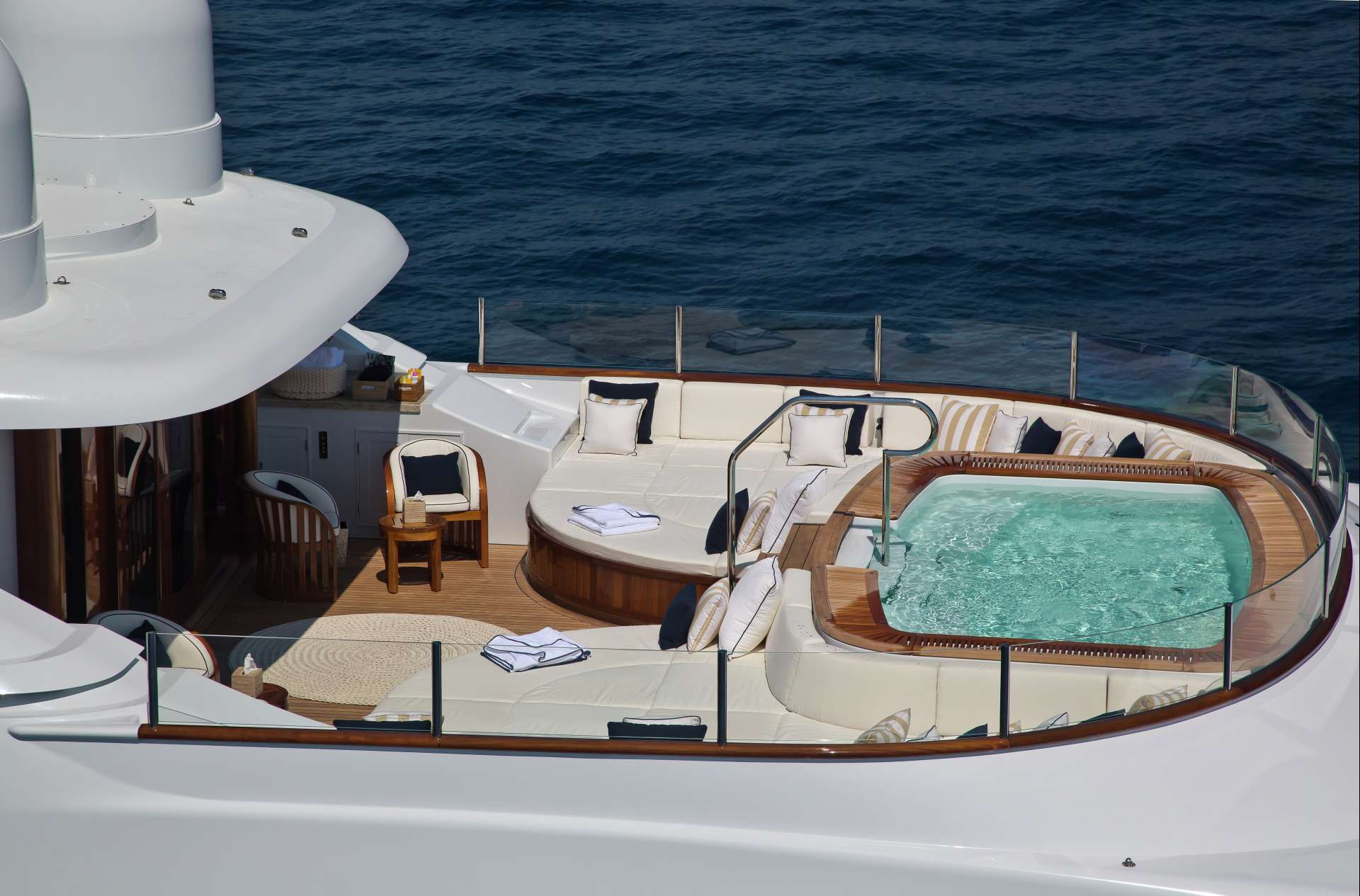 Aerial View Of The Jacuzzi On Sun Deck