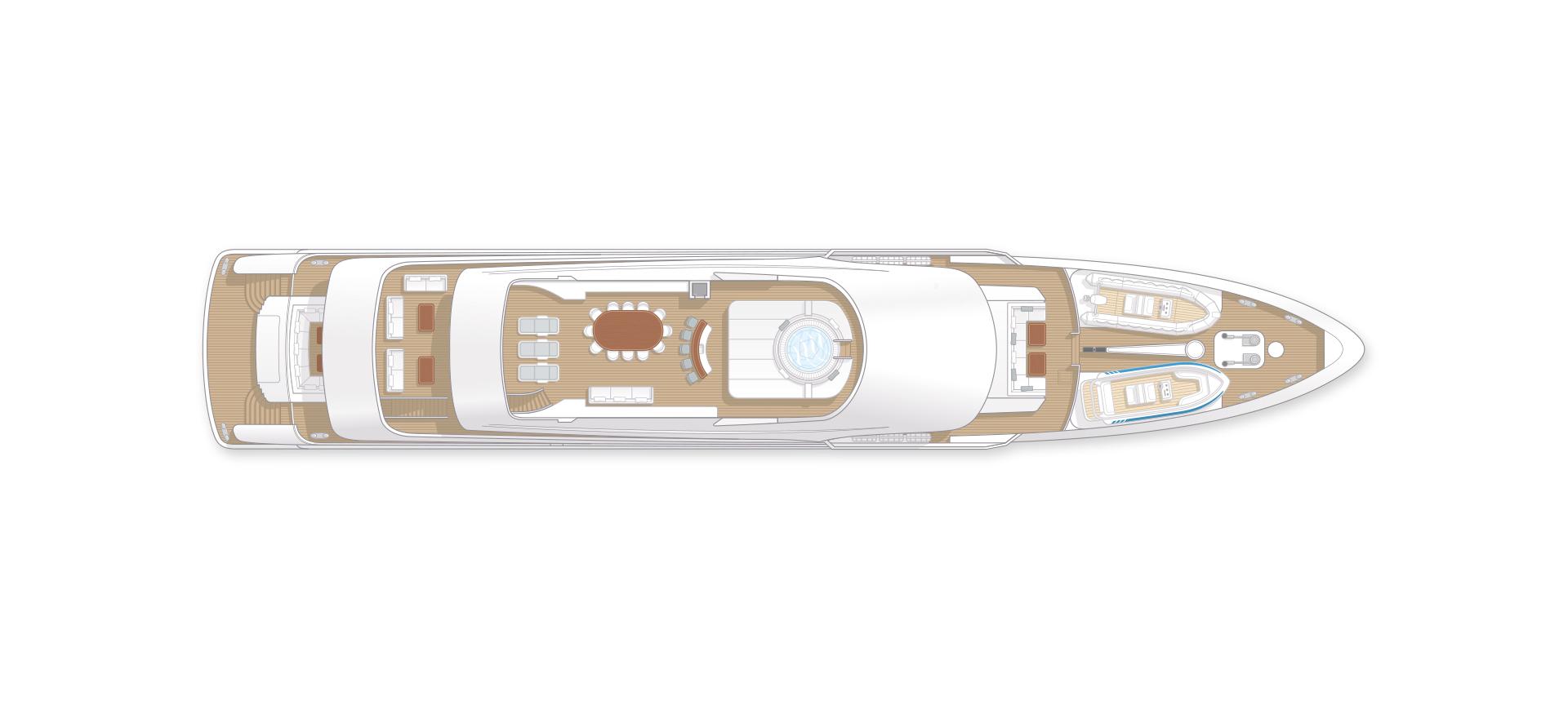 55m Yacht Sun Deck GA