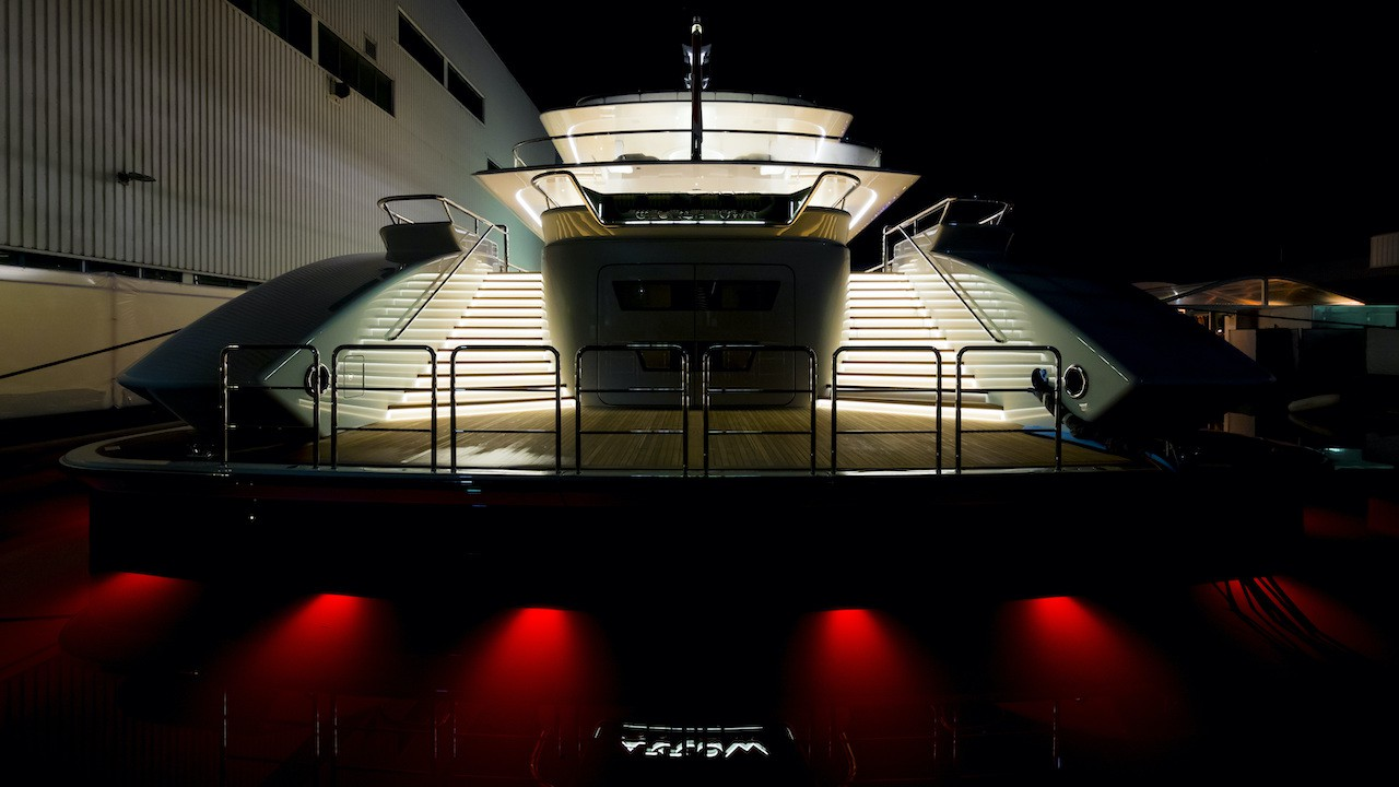 Aft View At Night