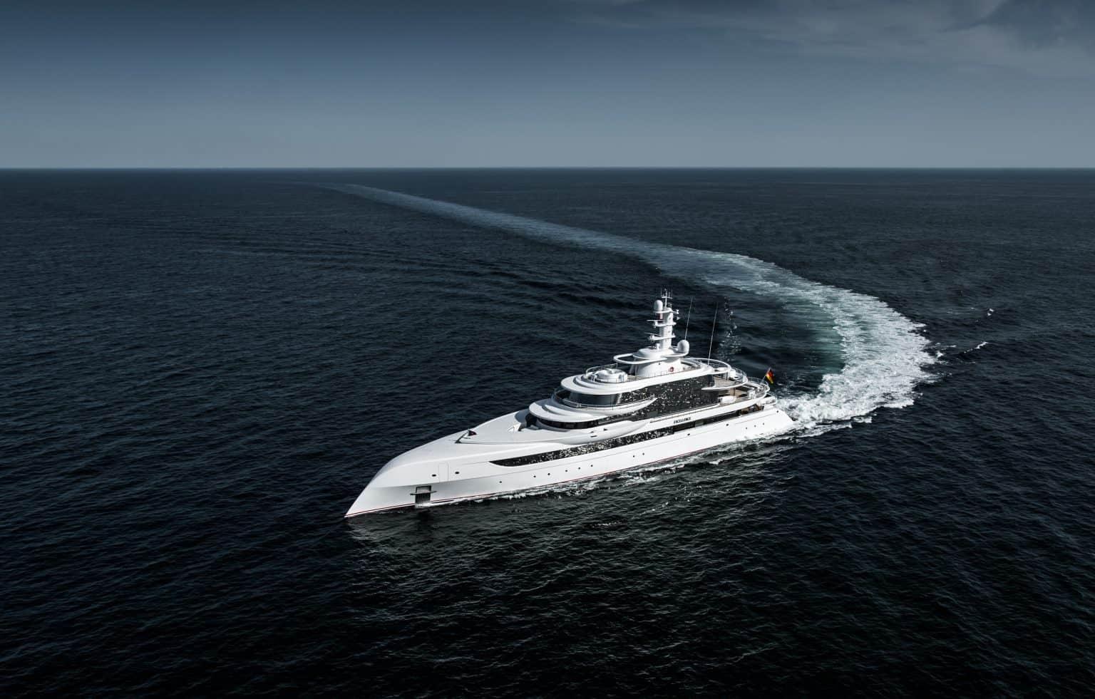 Running Shot Of The Yacht