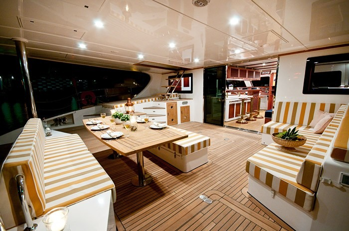 Dining Alfresco On The Aft Deck